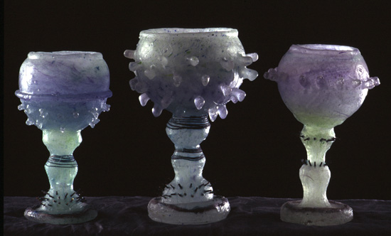 Three Glass Chalices