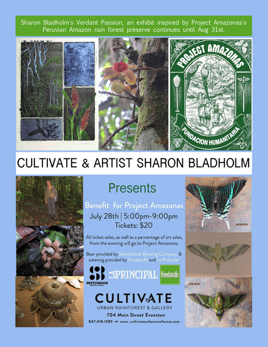 Cultivate & Artist Sharon Bladholm Presents<br>A Benefit for Project Amazonas